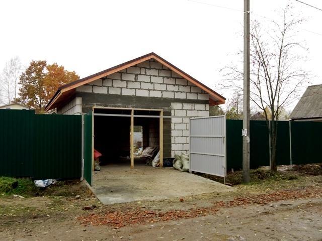 Отзыв о строительстве гаража на 1 машину из пеноблоков (без отделки, не под ключ)