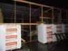 Возведение каркаса тепляка, складирование газобетонных блоков.