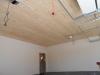 Шпаклевание стен, подшивка потолка вагонкой.
