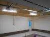 Окрашивание стен, монтаж светильников