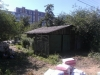 Старая постройка на месте строительства гаража