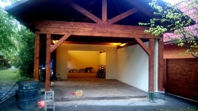 Декоративная подсветка в гараже и под навесом