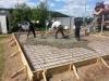 Бетонирование фундаментной плиты.