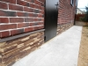 Облицовка стен и цоколя гаража