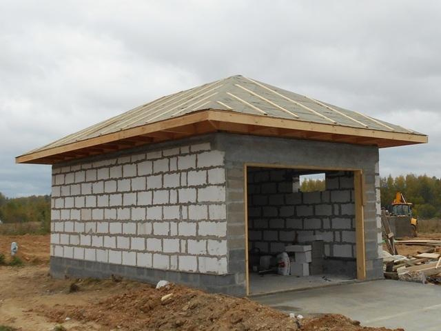 Гараж из газобетона своими руками: толщина стен, как строить фундамент