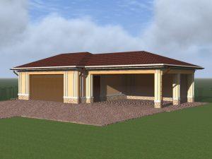 Строительство навеса в комплексе с гаражом, Новая Рига