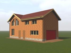 Гараж - дом, индивидуальный проект по эскизам Заказчика