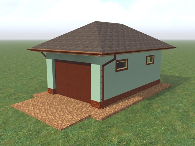 Строительство гаража из газобетонных блоков, без отделки