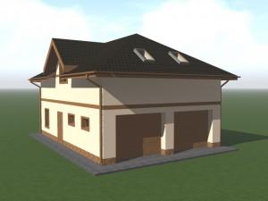 Большой гараж - дом, два машиноместа, хозблок, мастерская, санузел, жилые помещения в мансарде