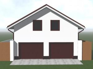 Проект гаража с жилой мансардой, на 2 авто