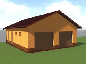 Строительство гаража на участке с большим перепадом рельефа, с устройством подпорных стен