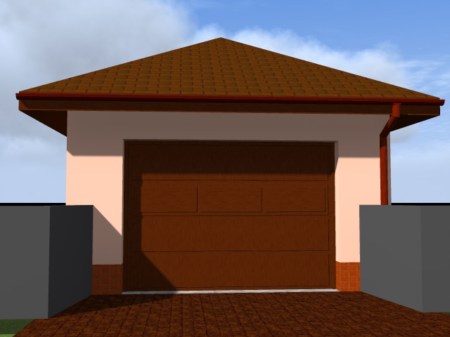 Автоматические рулонные ворота на гараж