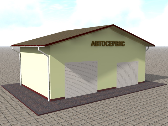 проект гаража - автосервиса в Новой Москве