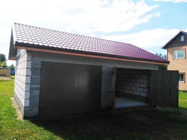 Как построить гараж из пеноблоков на 2 машины, фото строительства и цена