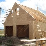 Стены гаража - каркас, пеноблоки, газобетонные блоки