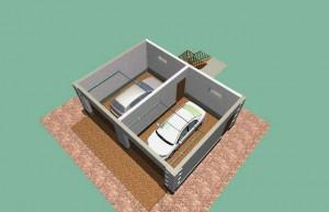 Интерьер гаражного помещения