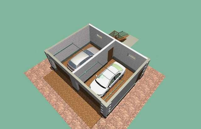 Проект гаража с мансардой на две машины
