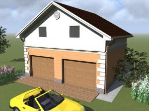 вид гаража спереди