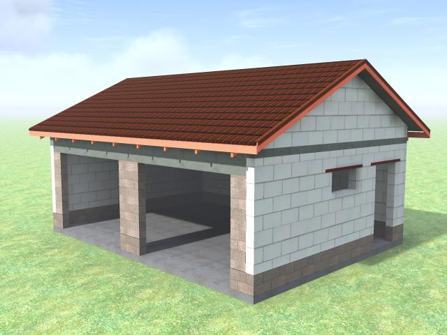 построить гараж из пеноблоков под ключ