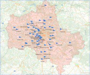 география строительства - карта построенных гаражей