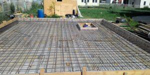 Армирование фундаментной плиты и перекрытия подвала