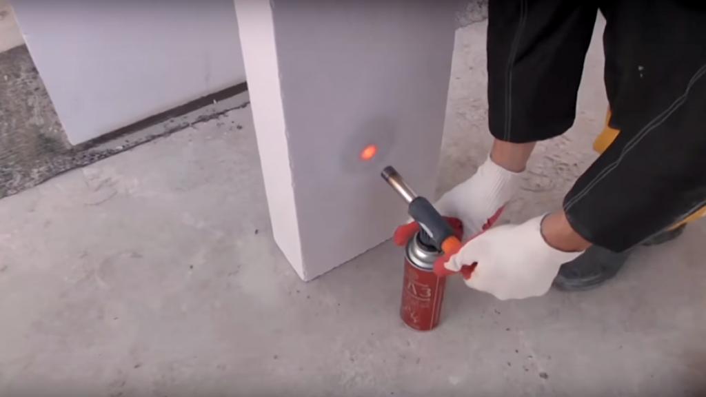 воздействие высокой температуры на газобетонный блок
