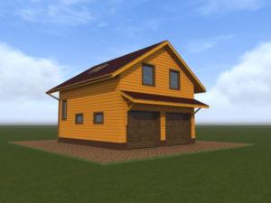 Строительство гаража из газобетона, с жилой мансардой