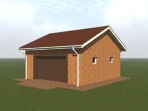 Ход строительства гаража на 1 машину фото и 3д модель