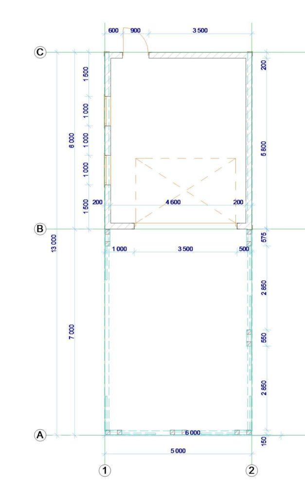 План гаража с навесом - проекты гаражей