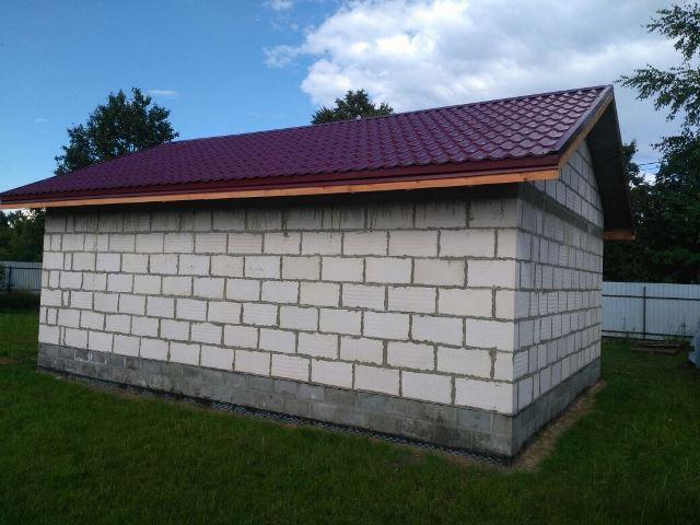Построить гараж из пеноблоков с кровлей из металлочерепицы фото, цена, отзывы
