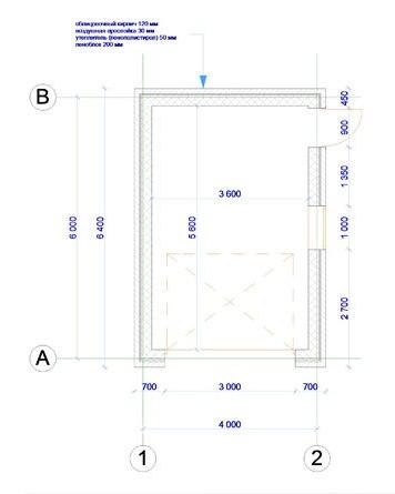 План кирпичного гаража с размерами
