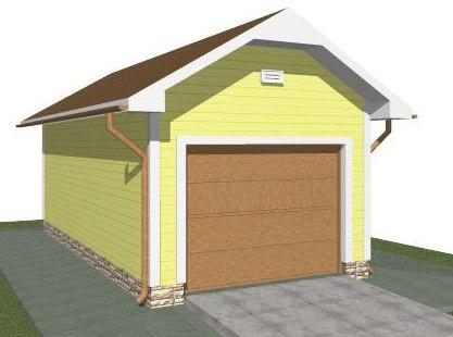 Проектирование гаражей из пеноблоков - гараж на 1 машину