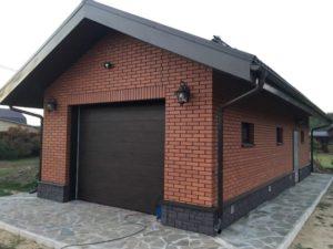 Как построить красивый гараж с хозблоком