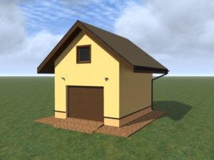 Проект гаража с мансардой
