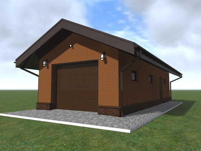 Строительство гаража с подвалом, с отделкой из облицовочного кирпича