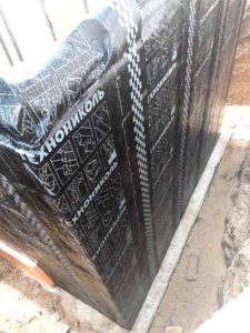 Вертикальная гидроизоляция стен подвала