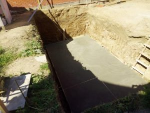 Цементно-песчаная стяжка для гидроизоляции гаража