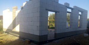 Стены гаража из газобетонных блоков