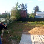 Геодезические работы - высотная съемка рельефа на площадке строительства