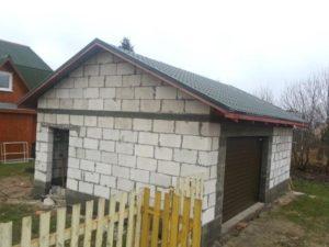 Гараж из пеноблоков - проект и строительство