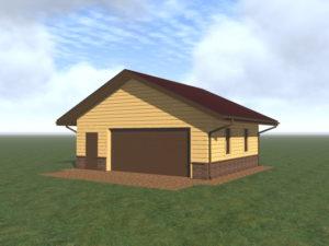 Строительство гаража с широкими воротами