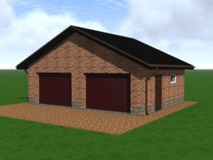 Проект гаража на 2 машины 63 фото гараж на два автомобиля с мансардой постройка с хозблоком мастерской и жилым вторым этажом